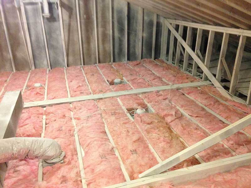 Tons of mold under all that insulation, ready to be removed