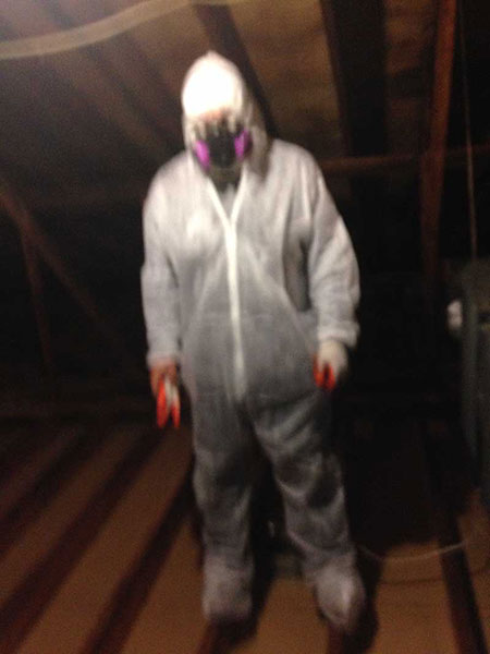 We mean business! Preparing to fog an attic