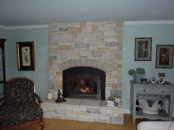 A custom built fireplace