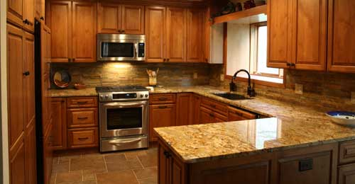 High quality cabinets and granite countertops