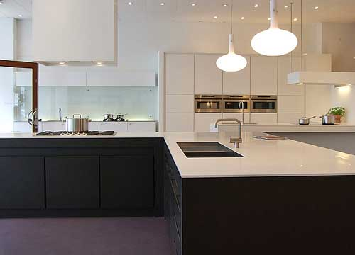 A modern-design kitchen
